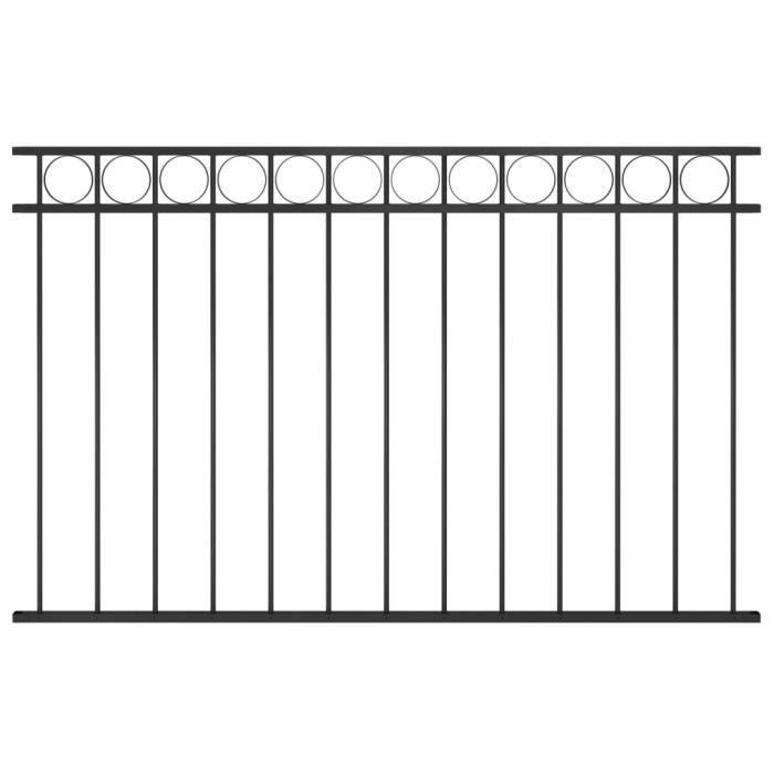♫9259 Brise vue - Clôture de jardin Brise vue Classique Acier 1,7x1 m Noir MMCZ®