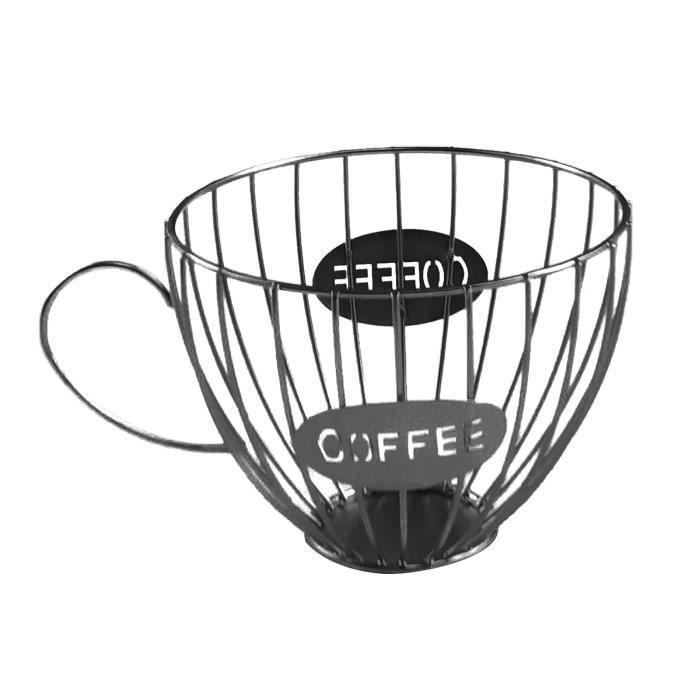 scourse®Porte-gobelet en forme de tasse Porte-dosettes café Organisateur stockage pour comptoir à Set Accessoires Salle De Bain cdt2