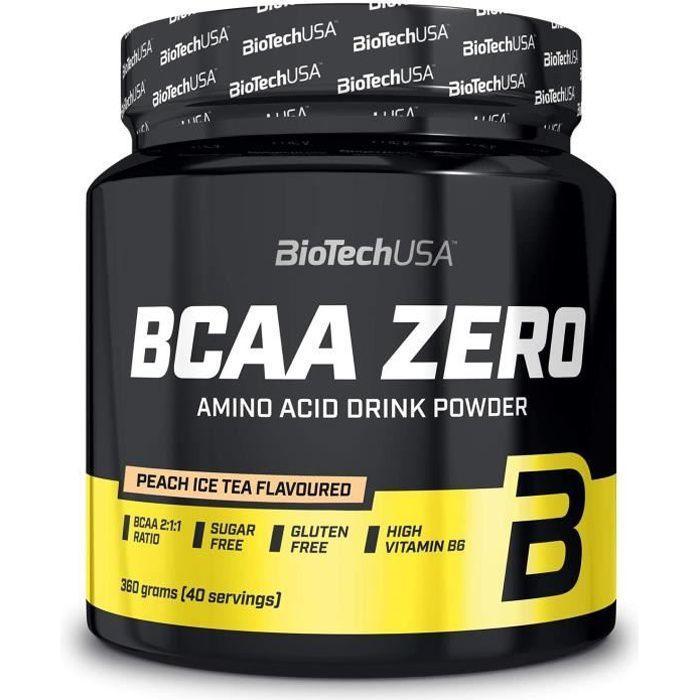 BCAA Zero 360g Ice Tea Peche Biotech USA - Musculation Fitness