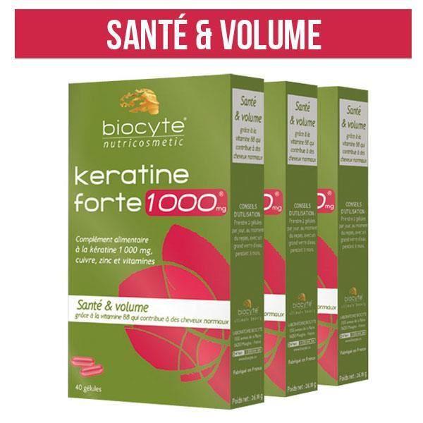 Pack Kératine Forte 1000MG 120 Gélules Biocyte