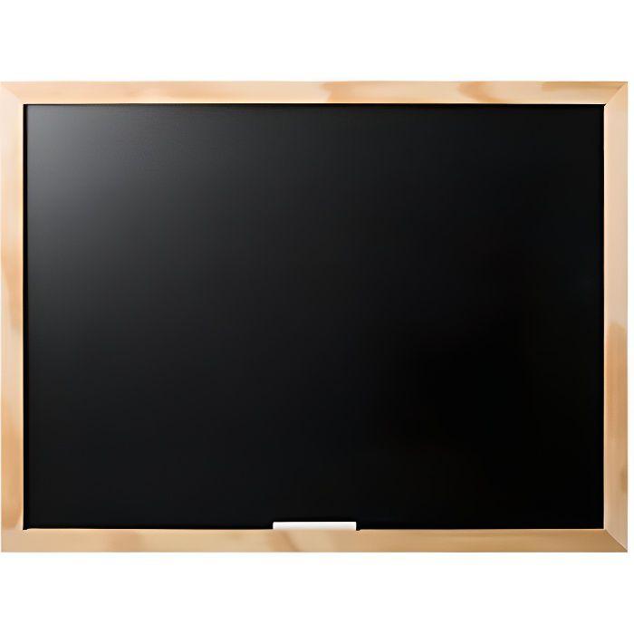 Bi-OFFICE PM04010119 - JEUX/JOUETS - TABLEAU ENFANT - Optimum Tableau à craie Noir 60 x 45 cm Cadre en Pin