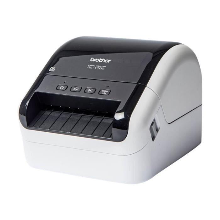 Brother QL-1100 Imprimante d'étiquettes papier thermique Rouleau (10,36 cm) 300 x 300 ppp jusqu'à 110 mm-sec USB 2.0, hôte USB