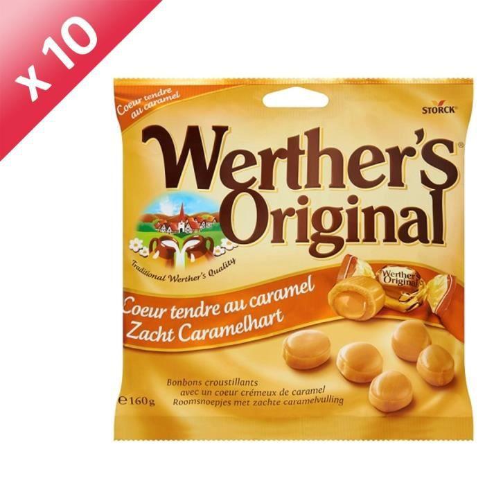 [LOT DE 10] WERTHER'S ORIGINAL Cœur tendre au caramel - 160 g
