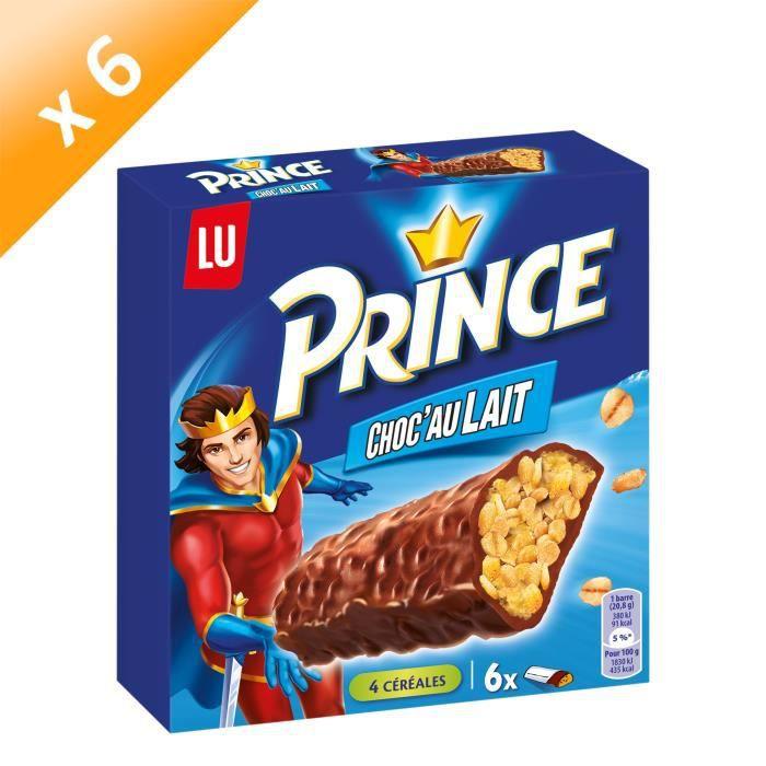 [LOT DE 6] Prince Choc'Au Lait Barre 125g