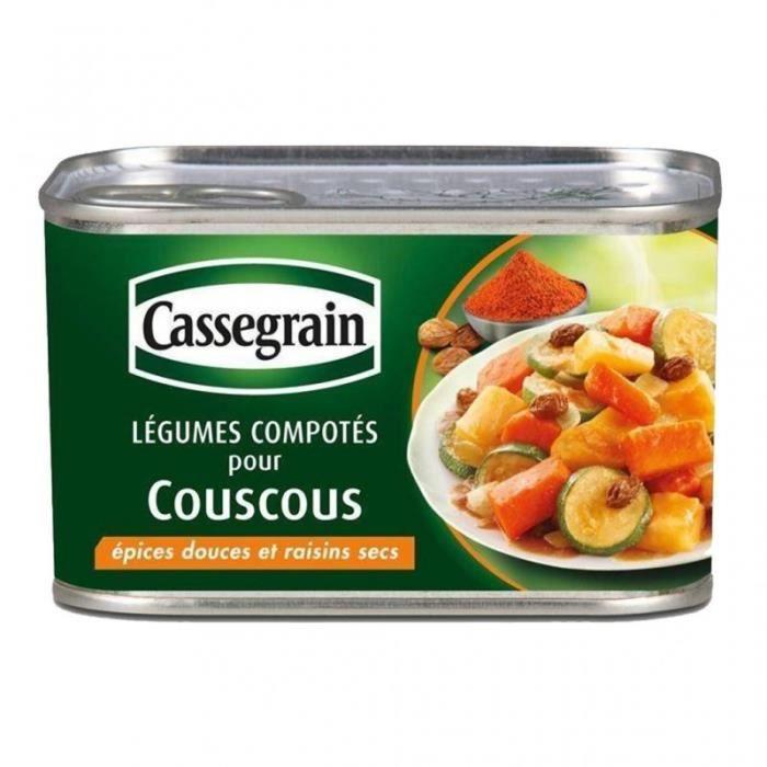 Cassegrain Légumes Couscous Epices Douces et Raisins Secs 375g (lot de 5)