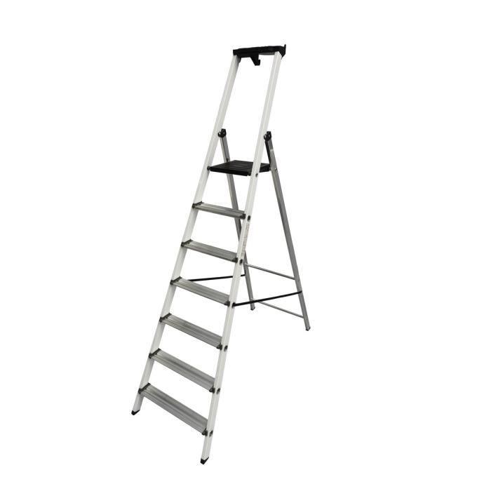 CENTAURE Escabeau en aluminium MB 7 marches - hauteur de travail 3,40m