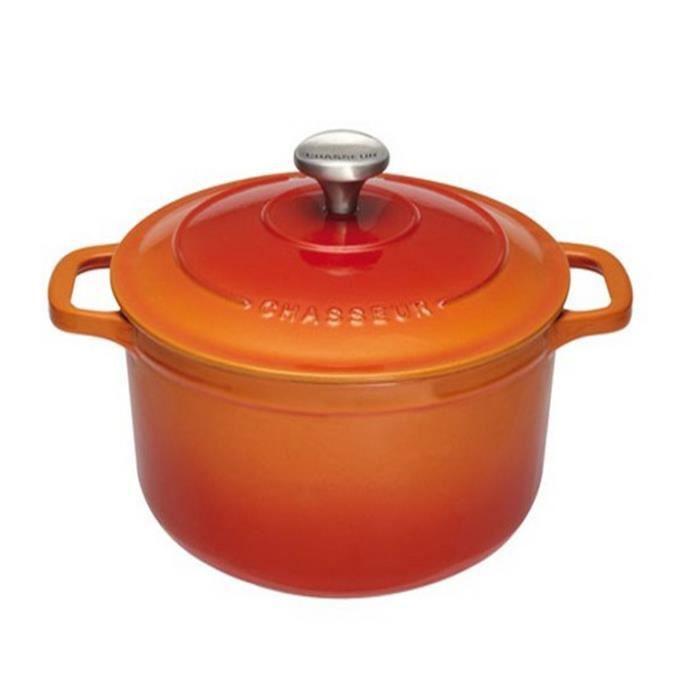 Chasseur - cocotte ronde en fonte émaillée 32cm orange - puc473207
