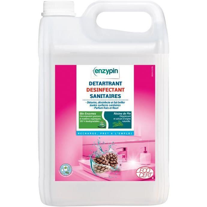 Détergent ECOCERT - désinfectant sanitaires - 5L
