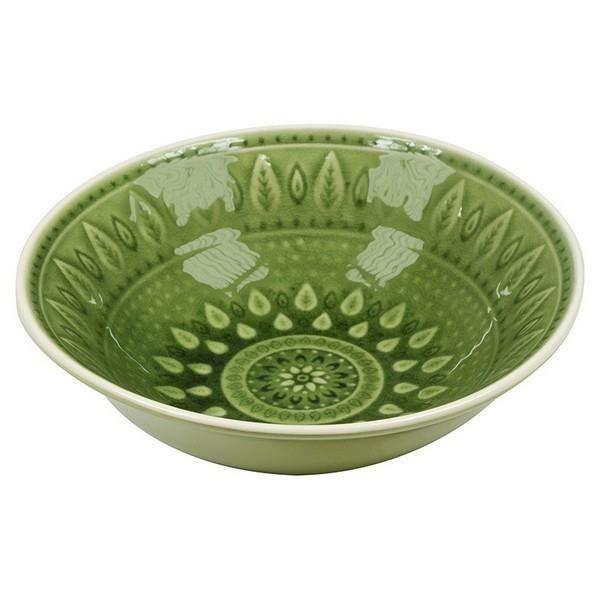 Assiette creuse en céramique Natural (18 X 18 x 6 cm) - Assiette repas design Couleur - Marron