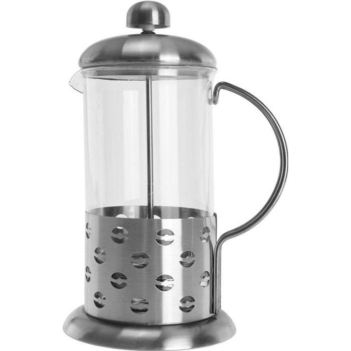 EQUINOX Cafetière piston inox -GRAINS DE CAFE-