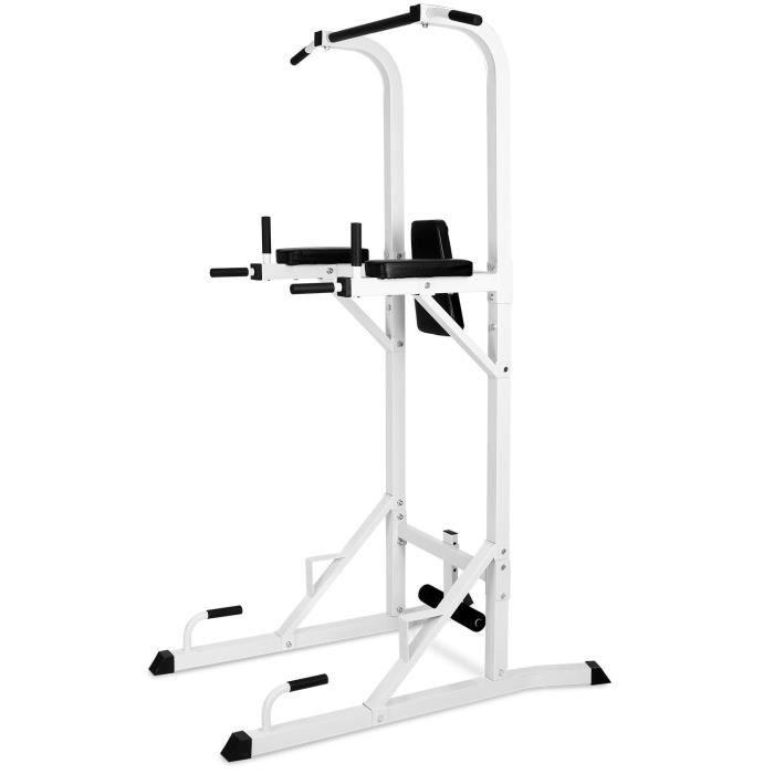 Klarfit FIT-KS04 Barre de Traction - Station de Crunches , Dips, Pompes - support jambes pour Sit Ups - charge 100 kg max - acier