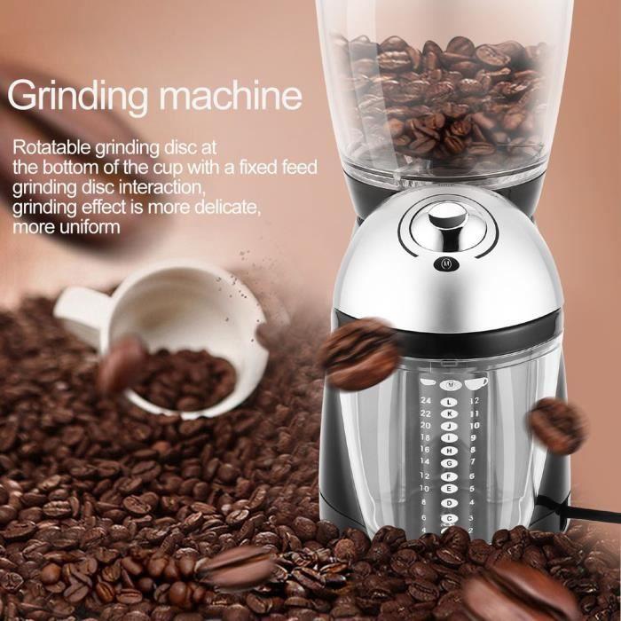 Moulin à café professionnel EU plug en acier inoxydable 420 11 * 14.5 * 30cm
