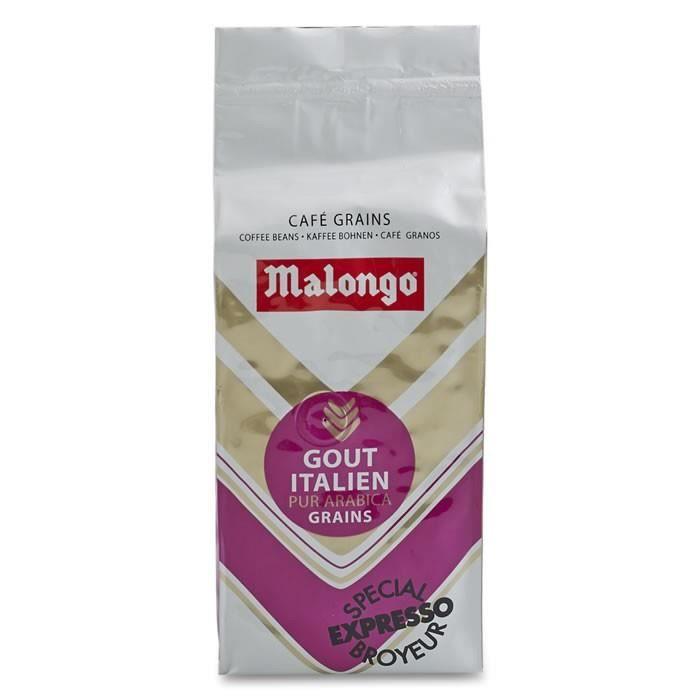 LOT DE 2 - MALONGO : Café en grains pur Arabica Italien 250 g