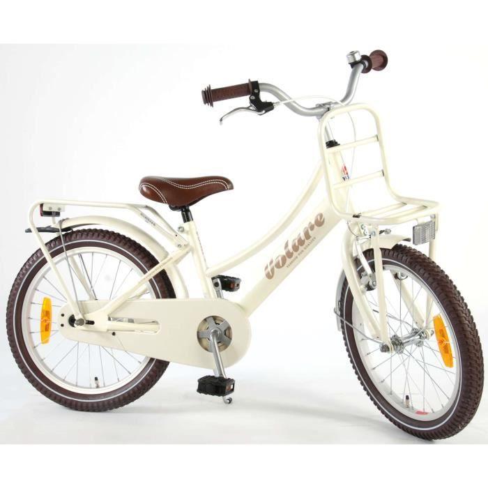 Vélo Enfant Fille 18 Pouces Excellent Frein Avant sur Le Guidon et Le Frein Arrière à Rétropédalage Nacre 95% Assemblé