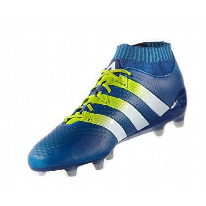 Chaussures De Running ADIDAS KFM66 Ace 16,1 Primeknit fg / ag Crampons - Bleu Taille-46