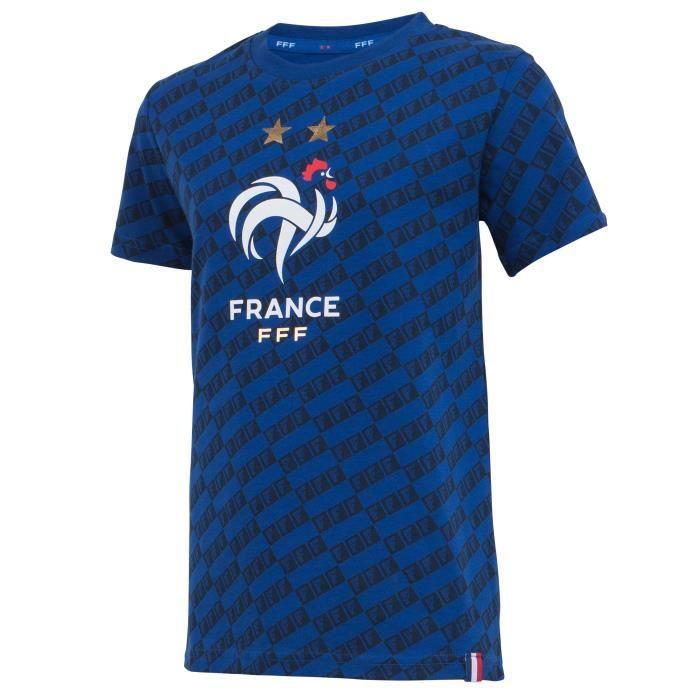 T-shirt FFF - Collection officielle EQUIPE DE FRANCE - Enfant -Bleu