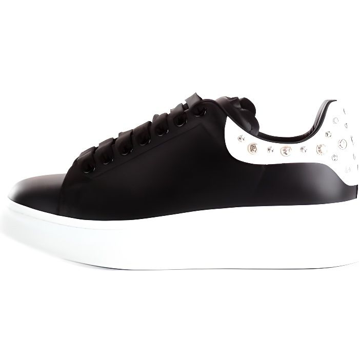 AlexanderMcQueen 553776WHGP chaussures de tennis faible Homme NOIR