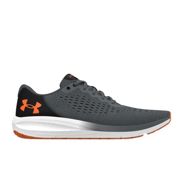 Chaussures de running de running Under Armour Charged Pursuit 2 - gris foncé/orange/blanc - 43