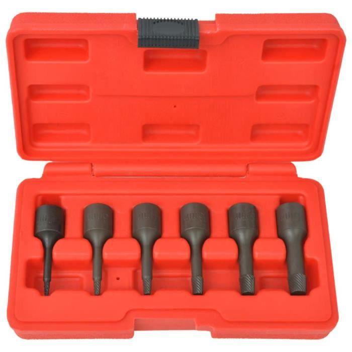 Kit d'extracteurs de vis Acier 6 pièces