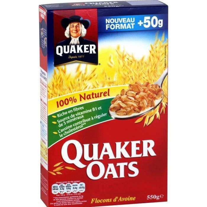 Quaker oats 550 g QUAKER