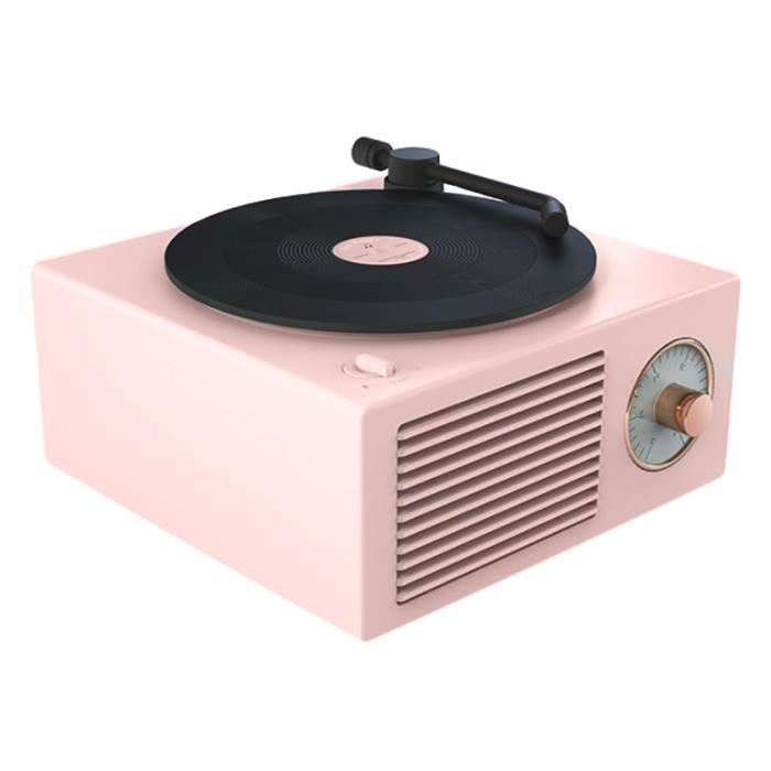 Haut-Parleur Tourne-Disque Vinyle Sans Fil Portable Mini Steel RéTro Haut-Parleur Atomique Radio Cassette Enregistreur
