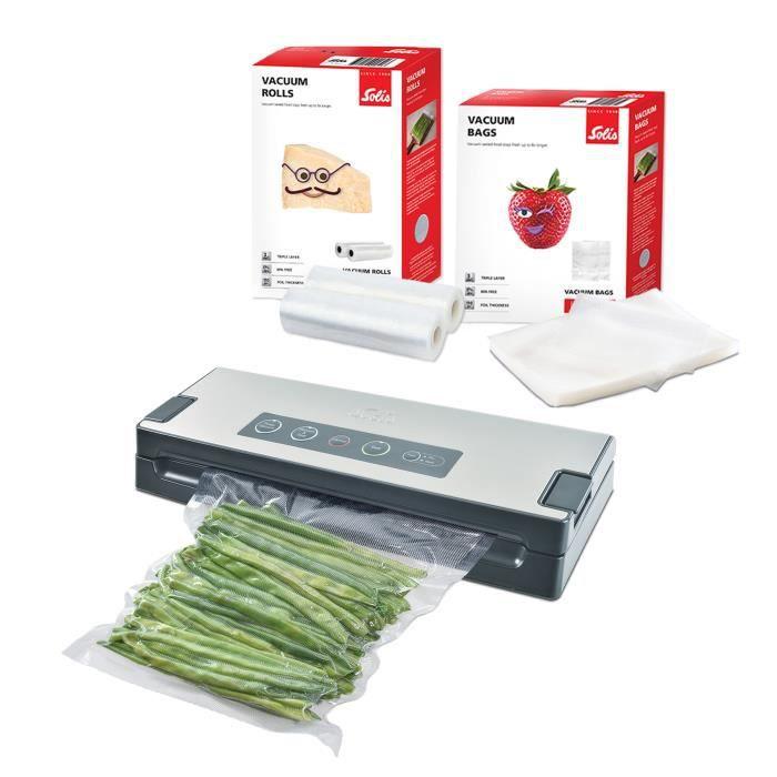 Machine Sous Vide Alimentaire - Vac Premium 574 + 2 Rouleaux Sous Vide Alimentaire + 50 Sac Sous Vide Alimentaire Solis