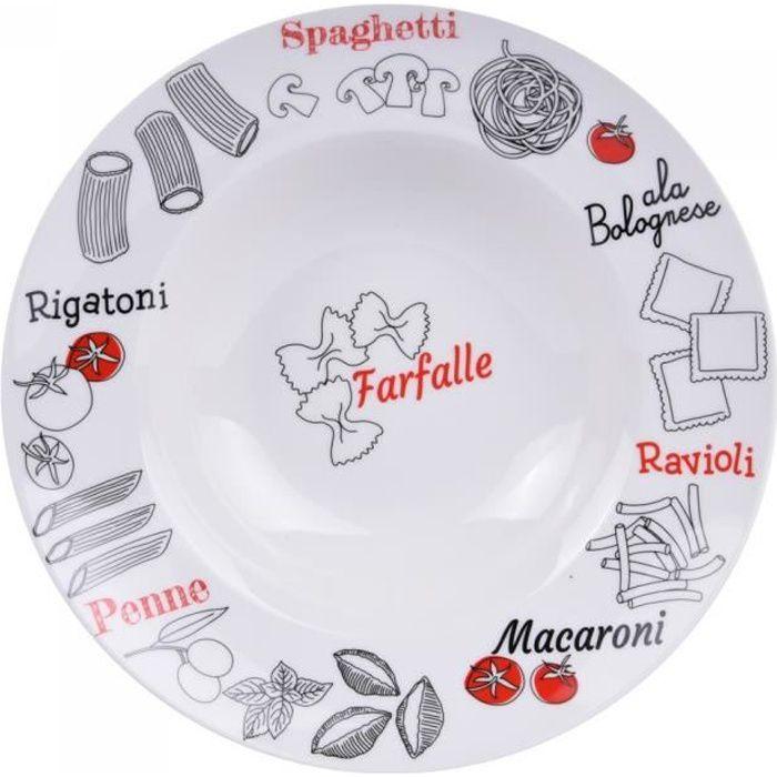 Assiette à pâtes farfalle 27 cm (lot de 6) - Table Passion NEURE Blanc