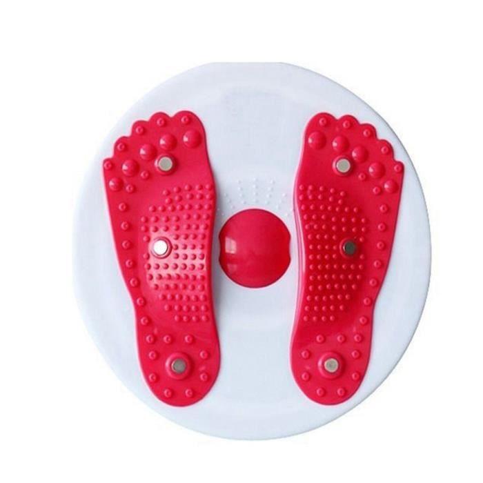 TEMPSA Machine de Torsion Fitness équilibre Taille Torsion Disque Balance Massage Physique ROUGE