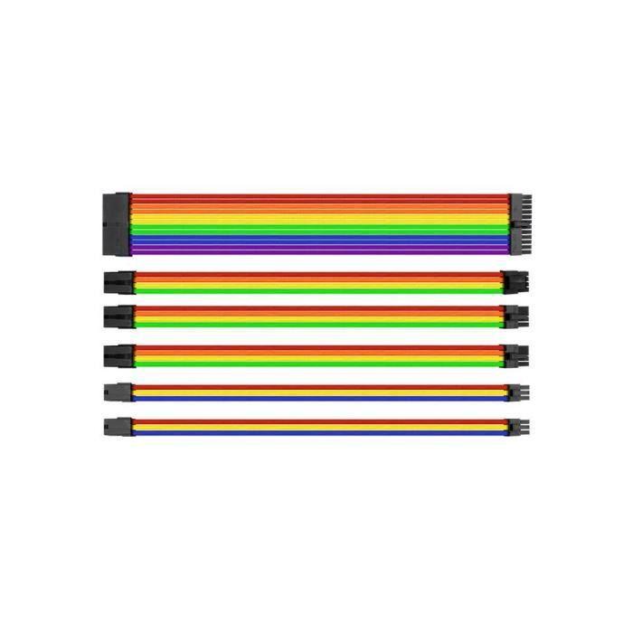 Thermaltake Kit de câbles d'alimentation Combo Pack Ttmod Avec manchons Multicolore