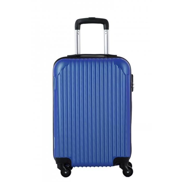 Valise cabine 50cm, 4 roues doubles. - matière ABS FROZEN - couleur Bleu - gamme BAGAGE RIGIDE