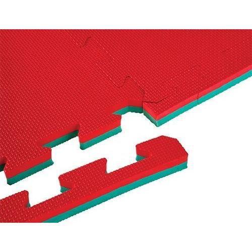 TUNTURI Tapis à pièces de puzzle - Epaisseur 2 cm - S'utilise des deux côtés - Rouge/Vert