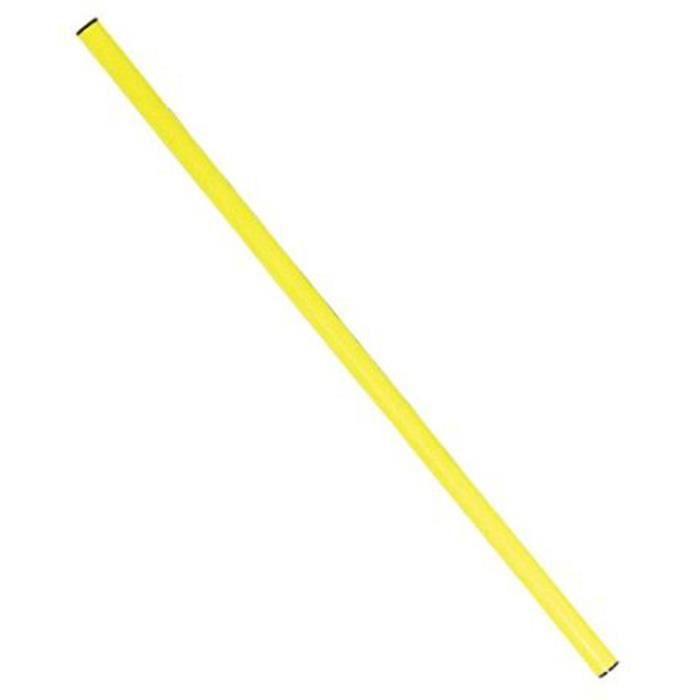 Baton de gymnastique en PVC 1.20 m - Jaune