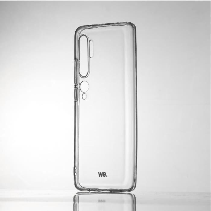 WEWE Coque de protection transparente pour smartphone XIAOMI MI NOTE 10 Fabriqué en TPU. Ultra résistant Apparence du téléphone