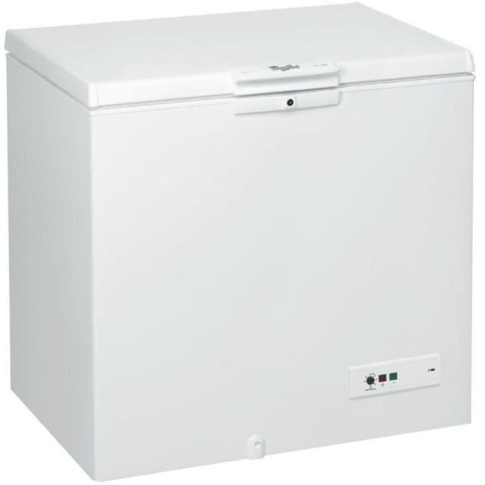 Congélateur coffre posable Whirlpool blanc - WHM31112