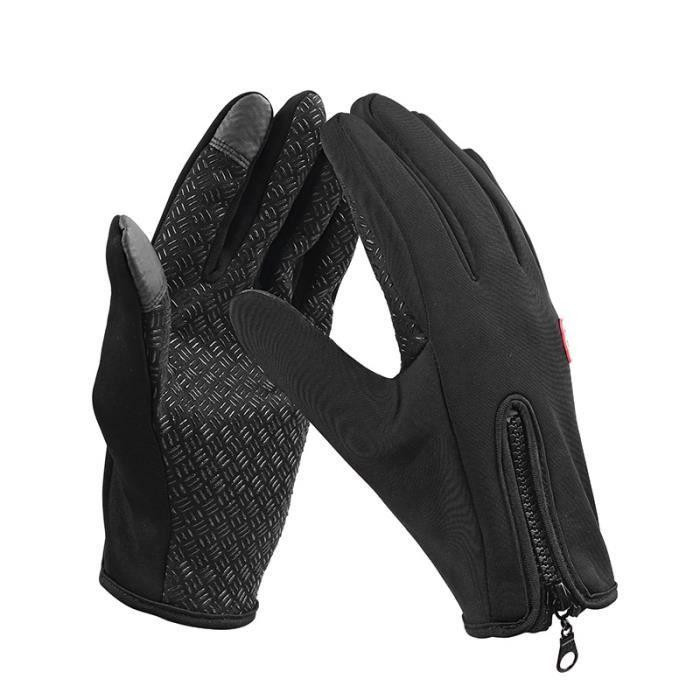 Black-S -Gants de cyclisme chauds d'hiver,gants de vélo à écran tactile pour hommes,gants de Sport pour femmes à doigt complet,ga