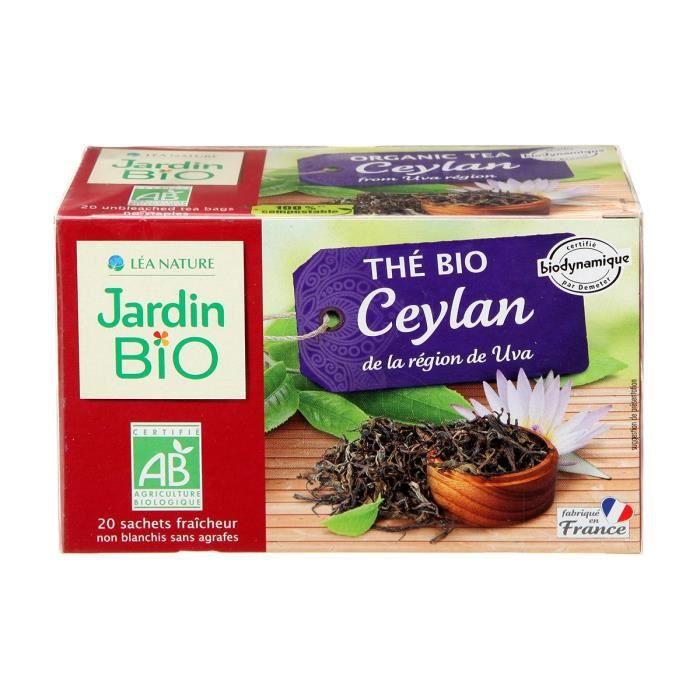 JARDIN BIO Thé noir Ceylan bio - 32 g