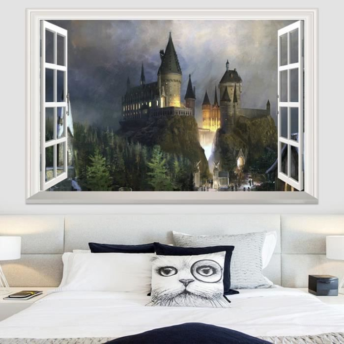deco harry potter of decoration murale harry potter. Black Bedroom Furniture Sets. Home Design Ideas