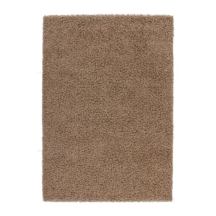 tapis de salon marron clair shaggy 50 mm moderne dessin 120x170 cm achat vente tapis cdiscount. Black Bedroom Furniture Sets. Home Design Ideas