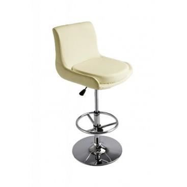 fauteuil de bar en simili cuir pelagia creme achat. Black Bedroom Furniture Sets. Home Design Ideas