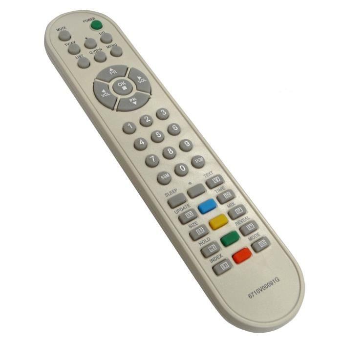 T/él/écommande de remplacement pour la t/él/écommande LG 6710V00091G