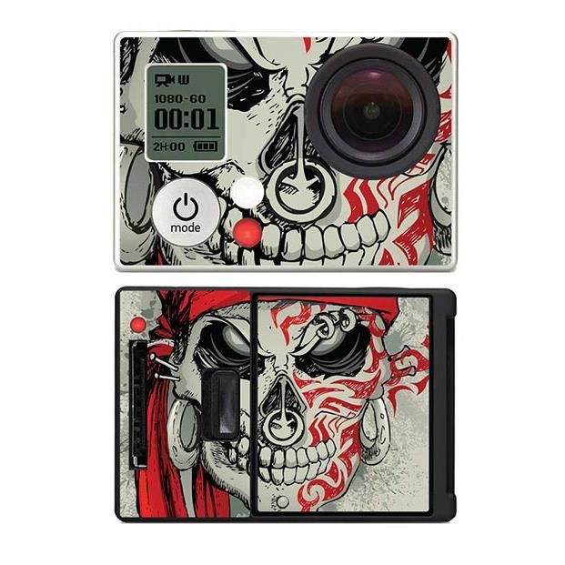 skin stickers pour gopro hero 3 sticker tattoo skull. Black Bedroom Furniture Sets. Home Design Ideas