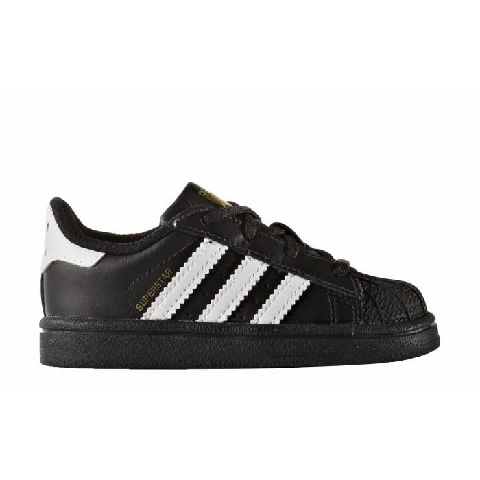 adidas originals baskets superstar chaussures b b gar on noir et blanc achat vente basket. Black Bedroom Furniture Sets. Home Design Ideas