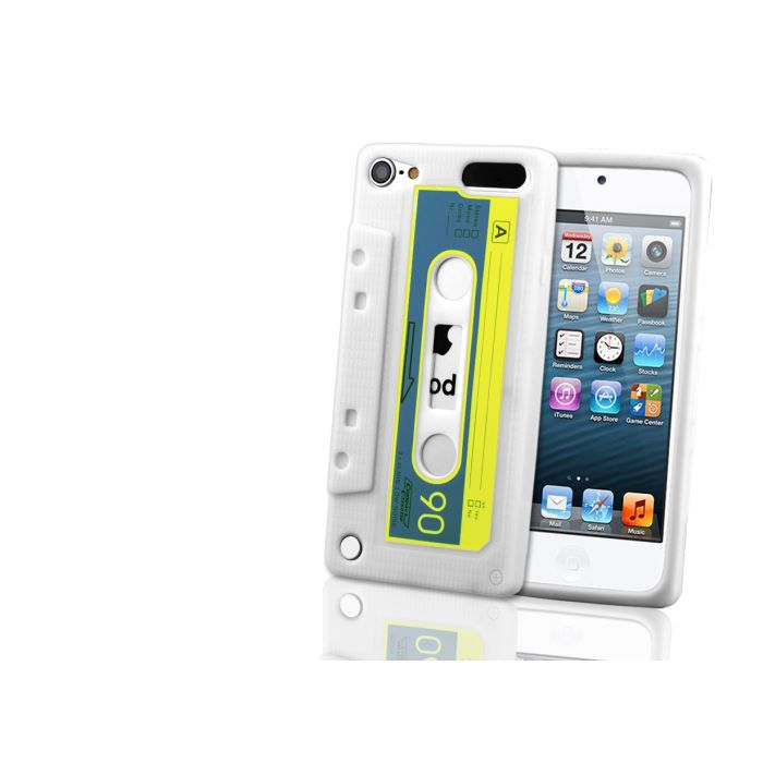 coque ipod touch 5 retro tape blanc coque mp3 mp4 avis. Black Bedroom Furniture Sets. Home Design Ideas