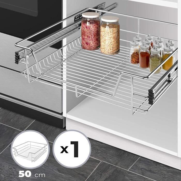Tiroir Telescopique De Cuisine Pour Placard De 50 Cm Charge Max