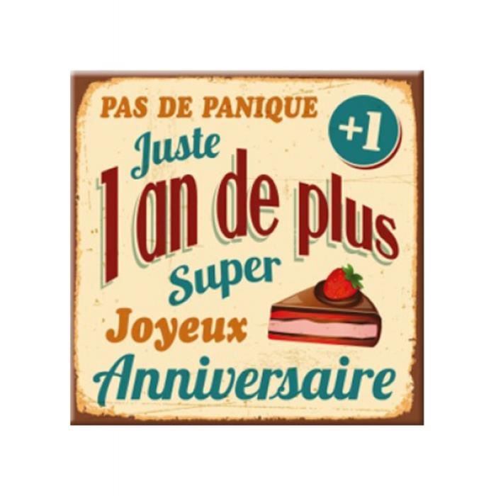 Plaque message anniversaire 1 an de + - Achat / Vente livre Parution pas  cher - Cdiscount