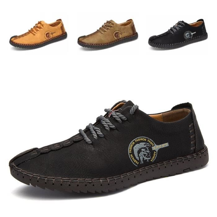 Suede en cuir respirant à lacets Oxfords Chaussures Hand Made British Style rétro Chaussures Casual ZQBWW Taille-40 1-2 hZV6rQx