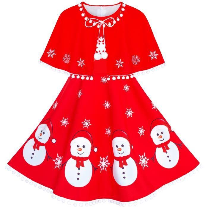 Childs Arbre de Noël Noël Costume Déguisement Filles Tenue 9 10 11 12