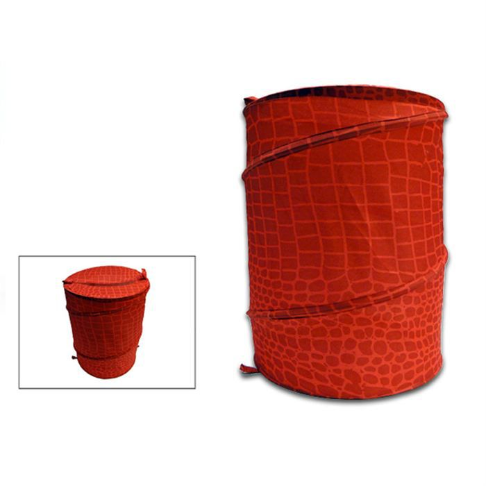 panier linge pliable crocodile rouge achat vente casier pour meuble cdiscount. Black Bedroom Furniture Sets. Home Design Ideas