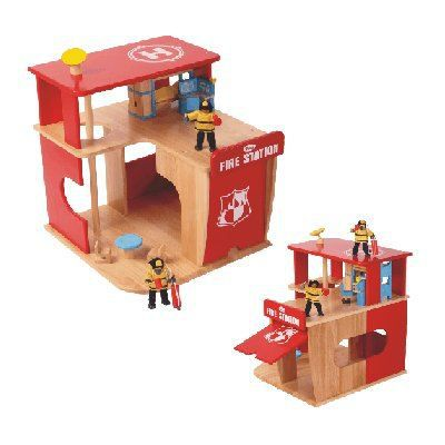 caserne de pompiers en bois achat vente univers miniature caserne de pompiers en bois. Black Bedroom Furniture Sets. Home Design Ideas