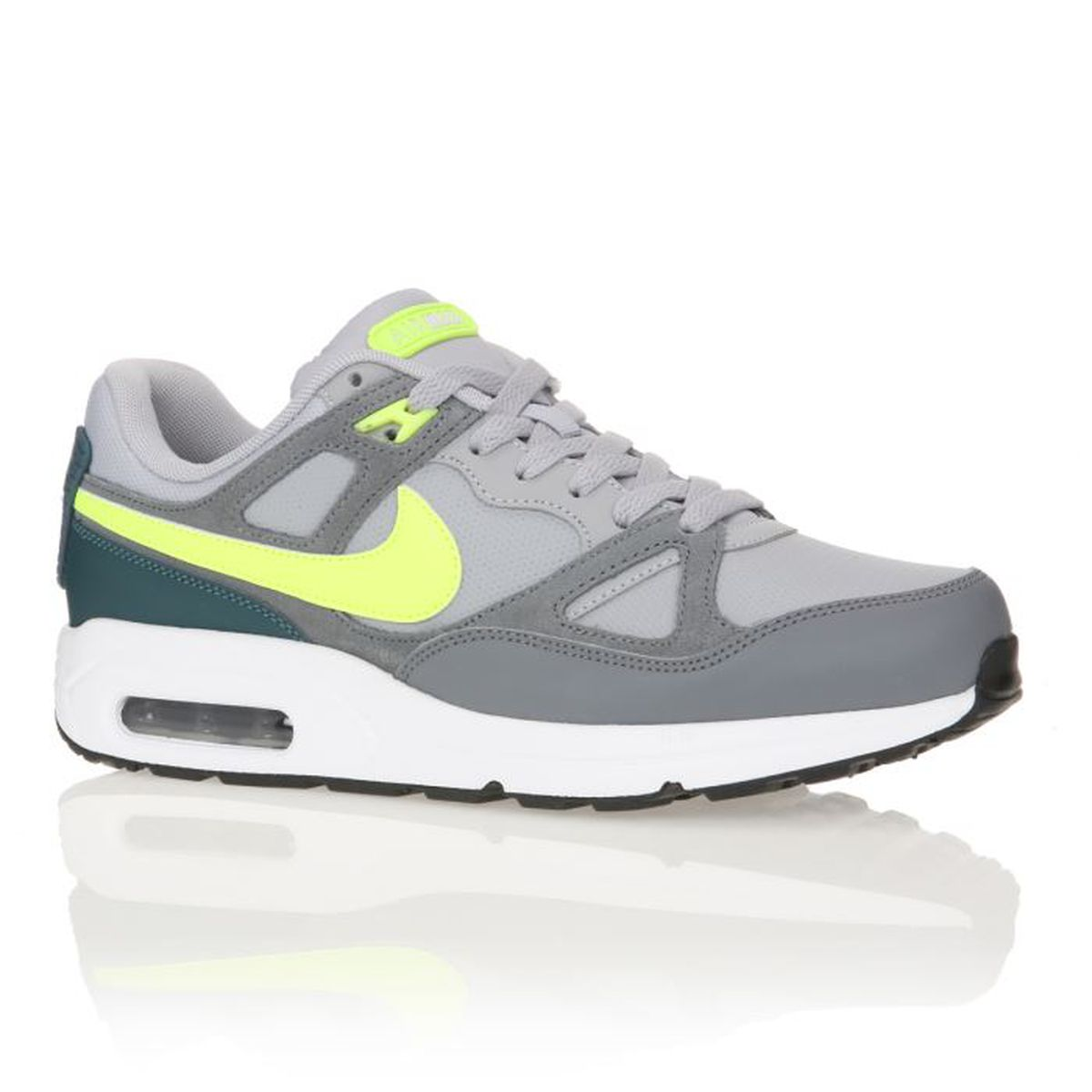 nike baskets air max span homme homme gris jaune vert achat vente nike baskets air max. Black Bedroom Furniture Sets. Home Design Ideas